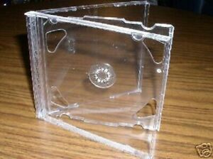 200 New 10 4mm Double Cd Jewel Cases W Clear Tray Psc36
