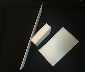 2 5 White Uhmw Polyethylene Plastic Sheet Priced square Foot Cut To Size