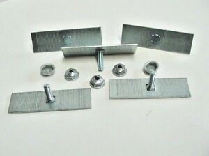 5 Gmc Body Side Moulding Fasteners 2 1 2 X 3 4 Perforated Clips Bolts Nos 378