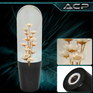 Black Clear White Tan Flower Fill Drift Jdm Shift Knob Racing 150mm Stick Shift