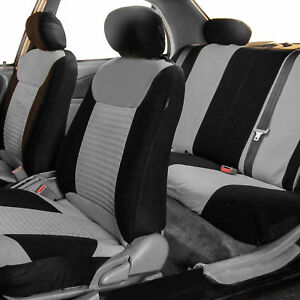 Car Seat Covers Premium Set Gray W Free Air Freshener