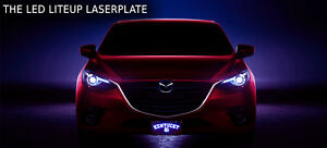 The Led Liteup Laserplate Custom License Plate Customplatesandhitch com