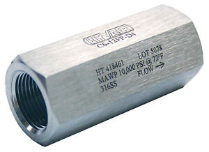 3 4 Stainless Steel High Pressure Check Valve 10 000 Psi new