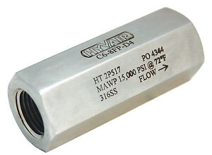 1 2 Stainless Steel High Pressure Check Valve 15 000 Psi new