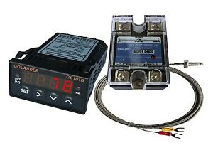 12v Dc 1 32din Pid Temperature Controller Red 25a Ssr K Thermocouple