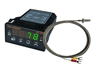 24v Dc 1 32din Digital Pid Temperature Controller Green With K Thermocouple