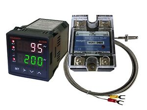 12v Dc Digital Pid F c Temperature Controller K Thermocouple 25a Ssr