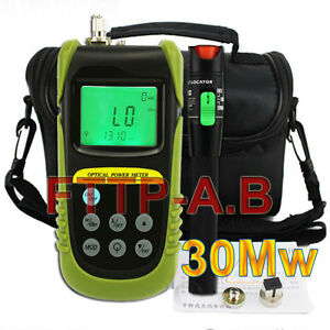 New Fiber Optical Power Meter 25 30km 30mw Visual Fault Locator Cable Tester Kit