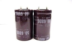 2pcs Electrolytic Capacitors 50v 6800uf Volume 25x40 Mm 6800uf 50v
