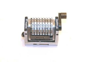 8 Digit 3 16 Gothic Rotary Straight Numbering Machine Morgana Standard Dupli