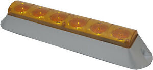 Surface Mount Amber Strobe Light 12 Base With 6 Super Bright Amber Leds