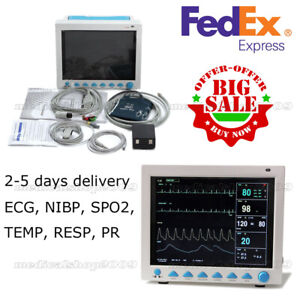 Usa Big Sale 12 1 Multi Parameter Patient Monitor Spo2 Pr Ecg Nibp Resp Temp
