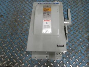 Ite Fusible Safety Switch F351h 30a 600v Nema 12 Enclosure Used