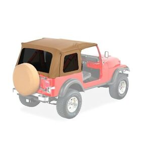 1976 1995 Jeep Wrangler Cj7 Bestop Supertop Soft Top Kit For Full Doors Spice