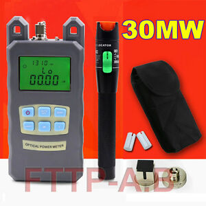Fiber Optical Power Meter 25 30km 30mw Visual Fault Locator Cable Tester Ftth