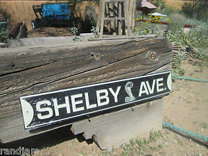 Shelby Ave Cobra Snake Emblem Embossed Metal Display Shelby Motor Cool Ford