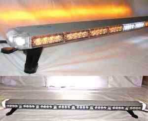47 Led Amber Light Bar Tow Truck Plow Police W Alley Brake Tail Turn Signal
