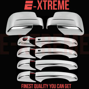 For Jeep 08 12 Patriot 4drs Handle W o Pskh 2pc Full Mirror Chrome Covers