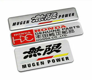 Alloy Mugen Power Car Sticker Badge Genuine Parts Auto Decal Emblem For Honda