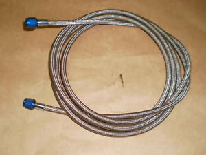 An 4 Nitrous Oxide Stainless Steel Braided 14 Ft Line Blue Ends