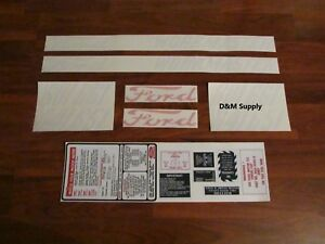 Ford Workmaster 641 601 661 651 Decal Set 1116 1558
