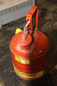 Red Justrite Mfg Co 1 Gallon Safety Can Gas Can Metal
