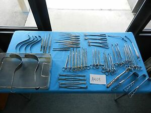 V Mueller Pilling Weck Codman Surgical Instrument Set With Tray