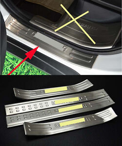 Outer Door Sill Protector Bumper For 2016 2018 Mitsubishi Outlander