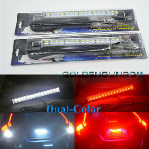 2x Universal White red 30 smd Led Lamps For License Plate backup brake rear Fog