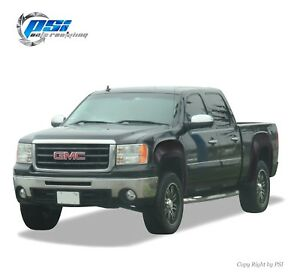 Black Paintable Oe Style Fender Flares 07 13 Gmc Sierra 1500 Short Bed 69 3 Only