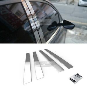 Stainless Steel Chrome Window Pillar Molding 4p For Hyundai 2008 2012 I30