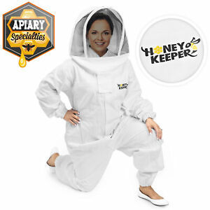 Professional Cotton Full Body Beekeeping Suit W Supporting Veil Hood 2x Large