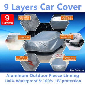 9layers Car Cover Soft Aluminum Outdoor Waterproof Uv Seamless For Ford Mustang