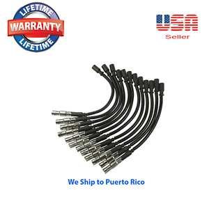 Spark Plug Wire Set Of 12 Wires Fits V6 Mercdes benz Chrysler Crossfire