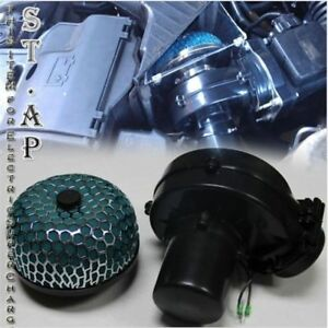 Air Intake Electric Turbocharger Supercharger Vehicles Hp 3 Inch Filter Green