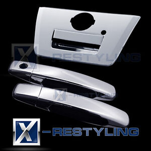 Fit 05 12 Nissan Frontier Chrome 2 Door Handle W O Psg Kh Full Tailgate Cover