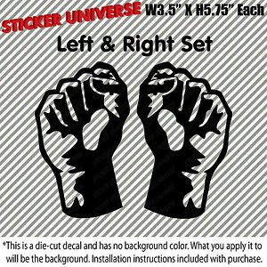 Protest Protesting Fist Pair Car Window Decal Sticker Trump Protest President274