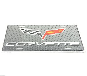 Chevrolet Chevy New Corvette Licensed Aluminum Metal License Plate Sign Tag