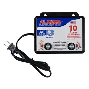 Electric Powered Fence Charger 10 Acres Pigs Cattle Horses Deer Cows Sheep New
