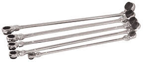 Platinum 99650 5 Pc Xl Ratcheting Wrench Set With 10 Metric Sizes