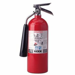 Kidde 466180 Pro 5 Cd Fire Extinguisher Ul Rated 5 b c Carbon Dioxide Red N