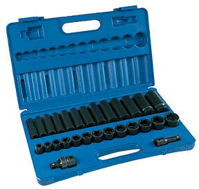 Grey Pneumatic Gry 1328rd 1 2 Drive 28 Pc Standard And Deep Set