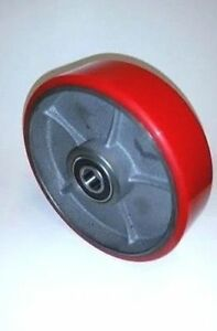 King Pallet Jack Steer Wheel Caster 7 x 2 Solid Ultra Poly Alittle Over 3 4 Id