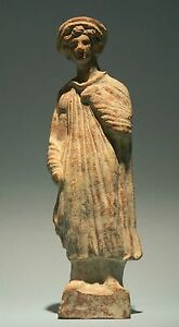 Greek Terracotta Youth Ancient Art Antiquities