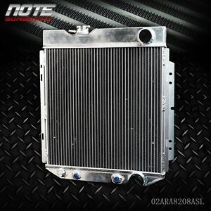 62mm Aluminum Race Cooling Radiator Fit For 64 66 Ford Mustang V8 L6 Mt At