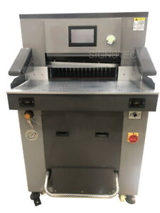 Hydraulic Paper Guillotine Cutter 520mm Programmable Stack Cutting Machine 20 4