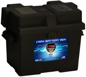 Vmax Group 24 Universal Battery Box With Strap Heavy Duty Marine Battery Box