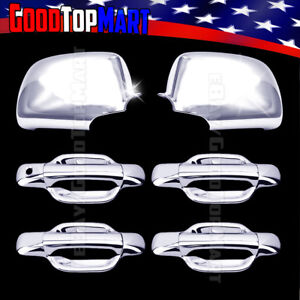 For Chevy Colorado 2004 2010 2011 2012 2013 Chrome Covers Set Mirrors 4 Doors