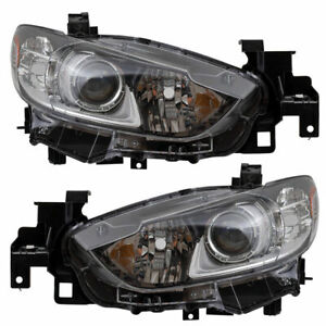 For Mazda 6 2014 2015 2016 2017 Headlights W halogen Left And Right Pair