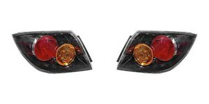 2004 2005 2006 Mazda 3 Hatchback Tail Lamp Light W o Led Left And Right Pair Set